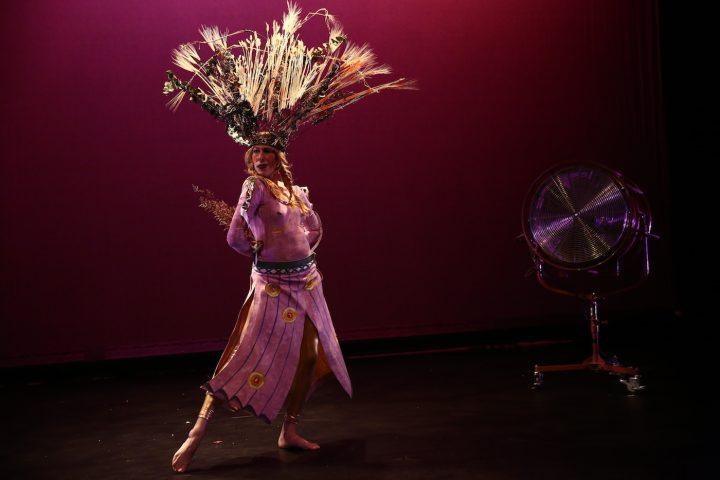 Deborah Lohse in Paulina Olowska's Slavic Goddesses: A Wreath of Ceremonies at the Kitchen