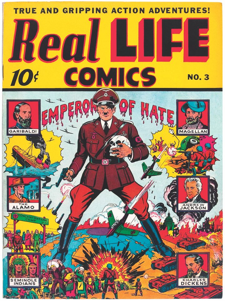 Cover of Real Life Comics #3 (March 1942)