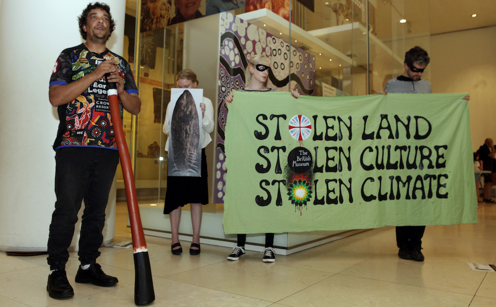 On June 18, Australian activist Rodney Kelly gave a talk inside the British Museum to protest the museum's ownership of the Gweagal Shield. (all photos by Anna Branthwaite)