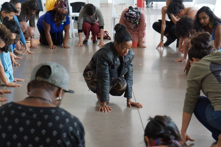 The Kandake Dance Theater for Social Change, workshop for adults (photo courtesy of Olga El​)