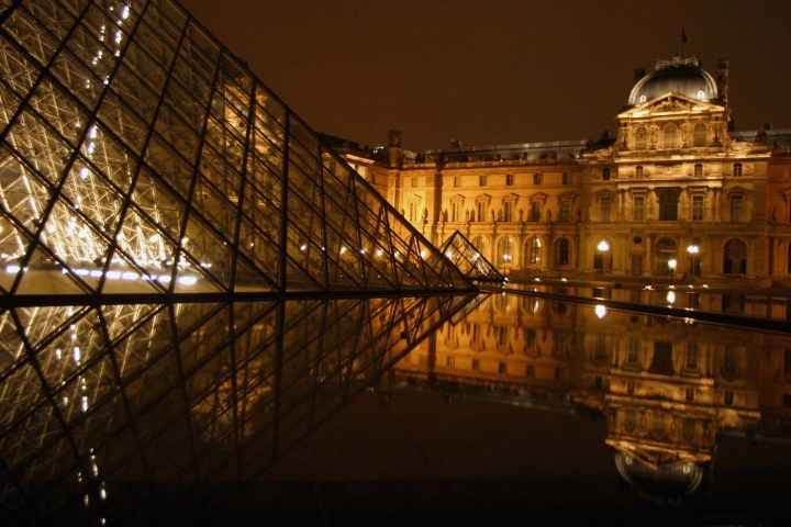 The exterior of the Louvre (photo by youssef_alam/Wikimedia Commons)