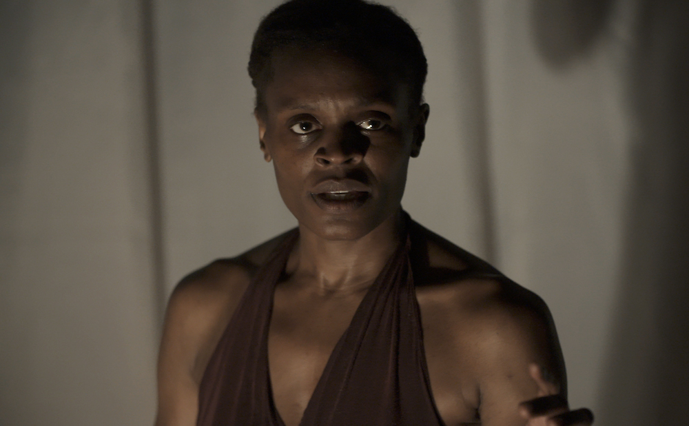 Okwui Okpokwasili in Andrew Rossi's documentary Bronx Gothic, based on Okpokwasili's performance of the same name (courtesy of Grasshopper Film)