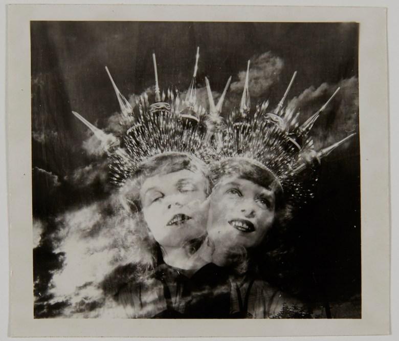 """Eugene Von Bruenchenhein, """"untitled (Marie, double exposure)"""" (1943-60), gelatin silver print (courtesy John Michael Kohler Arts Center Collection, photo by Rich Maciejewski)"""