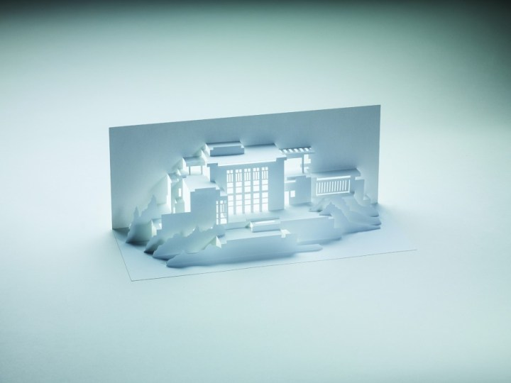 Frank Lloyd Wright Paper Models: 14 Kirigami Buildings to Cut Out and Fold (courtesy Laurence King Publishing)