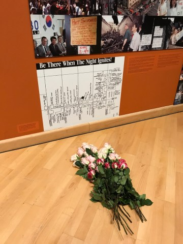 A bouquet of roses to honor victims of police brutality throughout history
