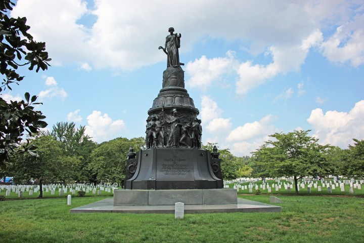 The Confederate Monument at Arlington National Cemetery in Arlington, Virginia (photo by Tim1965, via Wikimedia Commons)