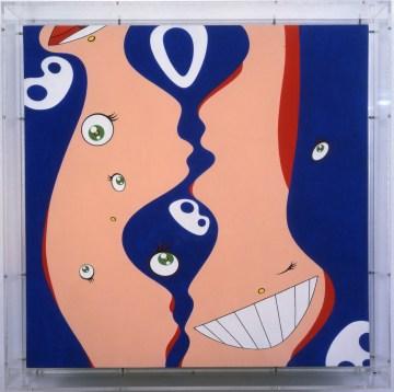 "Takashi Murakami, ""Klein's Pot B"" (1997), acrylic on canvas on board, 13 5/8 x 13 5/8 x 2 1/4 in, collection of Josh Abraham, Los Angeles (© 1997 Takashi Murakami/Kaikai Kiki Co., Ltd; All Rights Reserved; photo by Yoshitaka Uchida)"