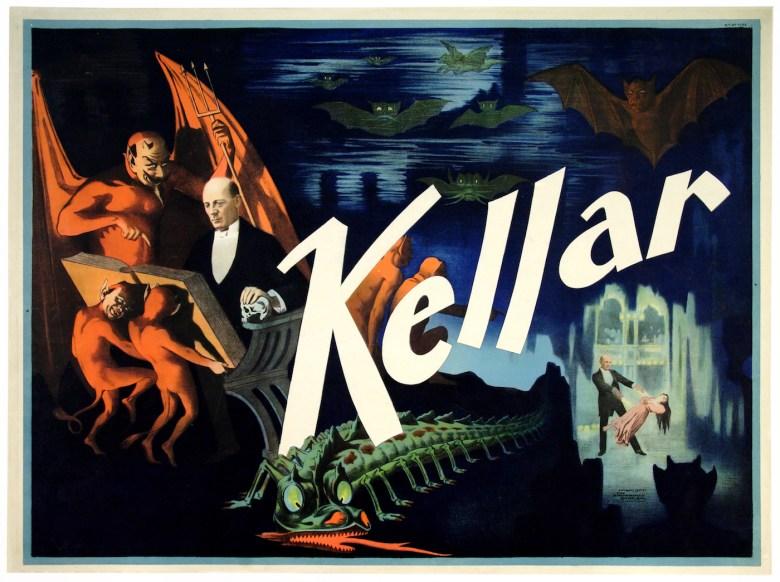 """Kellar"" (Strobridge Lithographing Co., 1897) (© McCord Museum)"