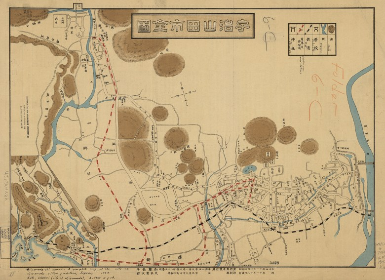 """""""Map of Kyoto"""" (1904) (courtesy Harvard Map Collection)"""