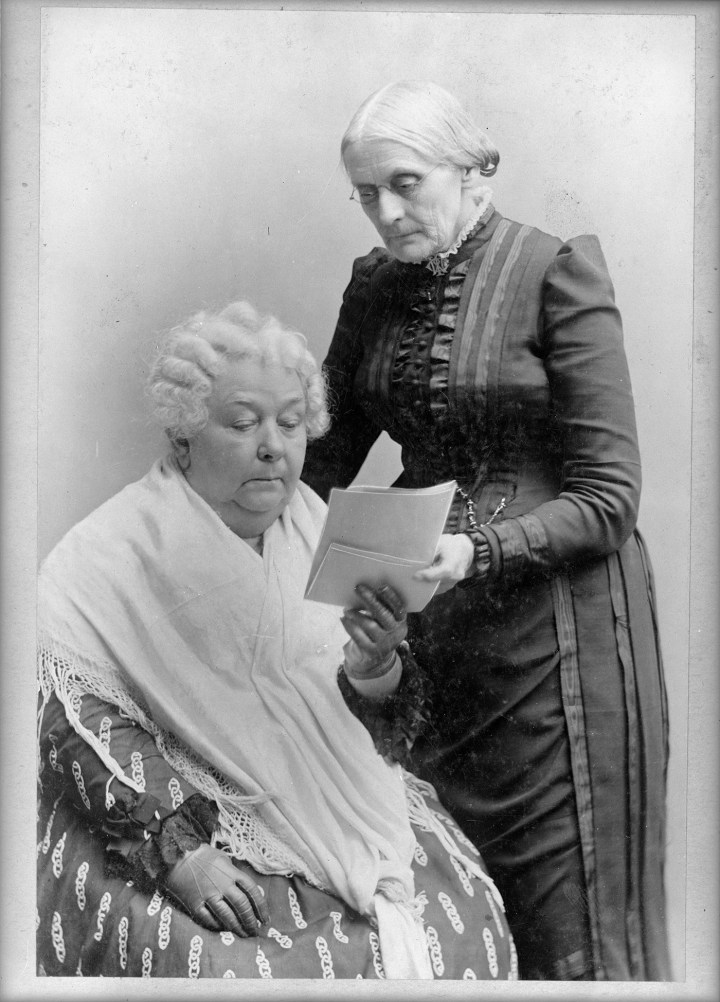 Elizabeth Cady Stanton, seated, and Susan B. Anthony, standing (between 1880-1902) (courtesy Library of Congress, Prints and Photographs Division)