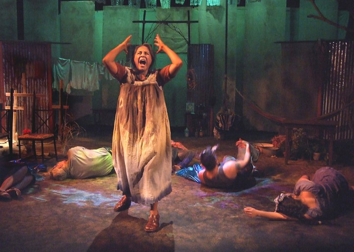 "Zilah Mendoza as Magdalena ""Magda"" Del Rio in An Enemy of the Pueblo at CASA 0101 in Boyle Heights (photo by Ed Krieger)"