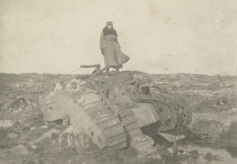 "Mairi Chisholm, ""Irene 'Winkie' Gartside-Spaight in No Man's Land"" (1916) (© National Library of Scotland)"