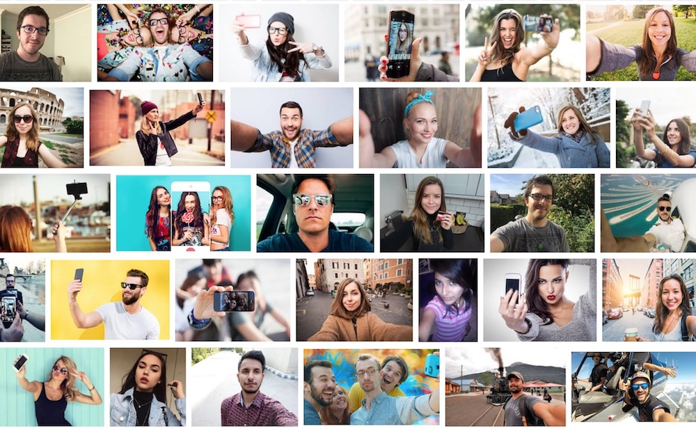 """Screenshot of Google Image search results for """"selfie"""""""