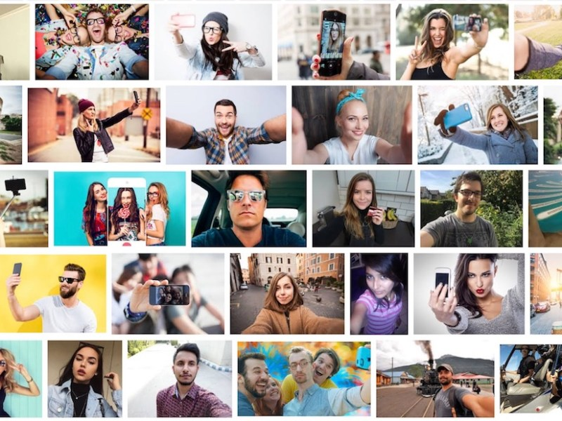 "Screenshot of Google Image search results for ""selfie"""