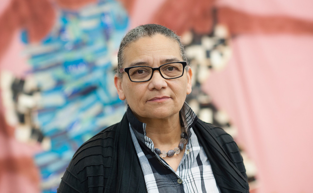 Lubaina Himid (photo by Edmund Blok for Modern Art Oxford, courtesy the artist and Hollybush Gardens)