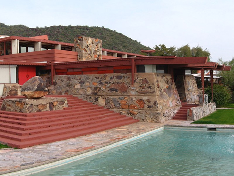 The Frank Lloyd Wright Foundation received a $6,000 NEH grant for environmental monitoring equipment to be installed at Taliesin and Taliesin West (pictured).
