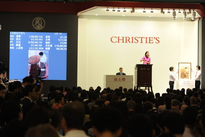 A 2014 sale at Christie's Hong Kong auction house, where former CIA officer Jerry Chun Shing Lee was head of security. (photo by manhhai/Flickr)