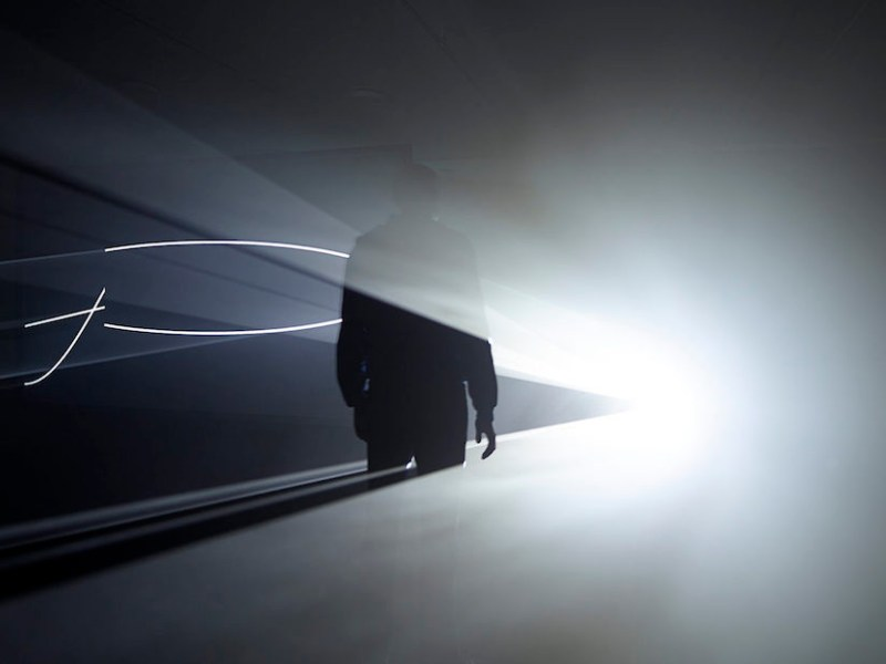 Anthony McCall, Solid Light Films and Other Works (1971–2014), installation view Eye Film Museum, Amsterdam 2014 (photo by Hans Wilschut, courtesy Pioneer Works)