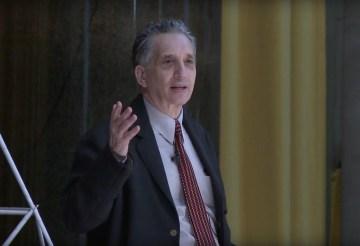 Thomas Roma giving at TED talk at Columbia University in 2014 (screenshot via YouTube)