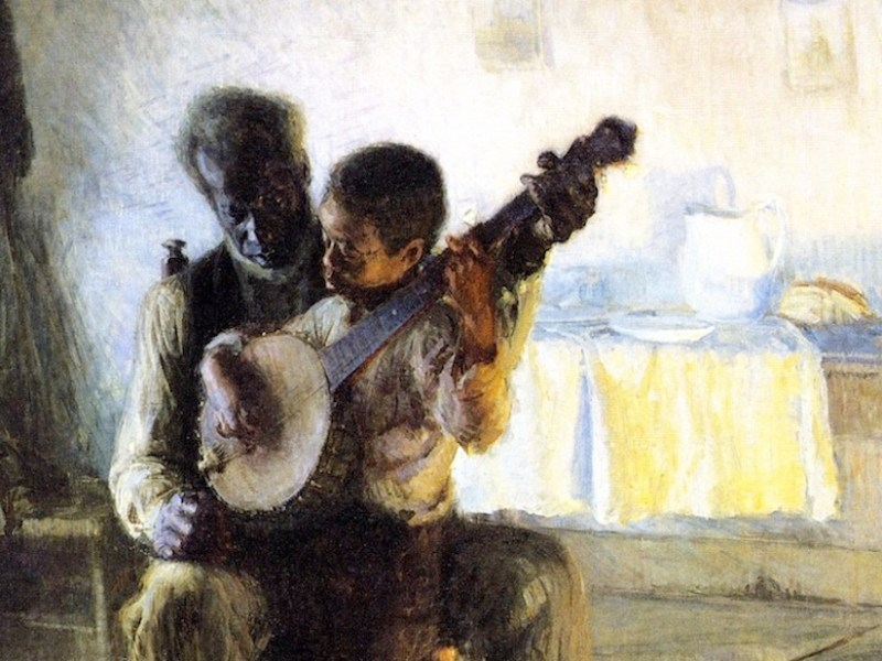 """Henry Ossawa Tanner's """"The Banjo Lesson"""""""