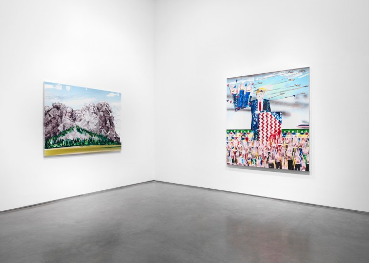 Installation view of Barnaby Furnas: Frontier Ballads (courtesy of the artist and Marianne Boesky Gallery, New York and Aspen; photo by Object Studies)