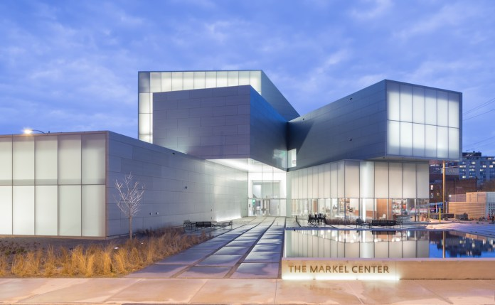 Institute for Contemporary Art at VCU Markel Center at night (photo by Iwan Baan)