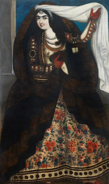 """Artist unknown, """"Young Woman with a Chador"""" (ca 1840–50), oil on canvas, private collection, Geneva (photo © André Longchamp)"""
