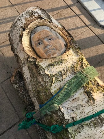 Detail of Pawel Althamer's sculpture for Lech Kaczyński (photo courtesy Sebastian Cichocki)