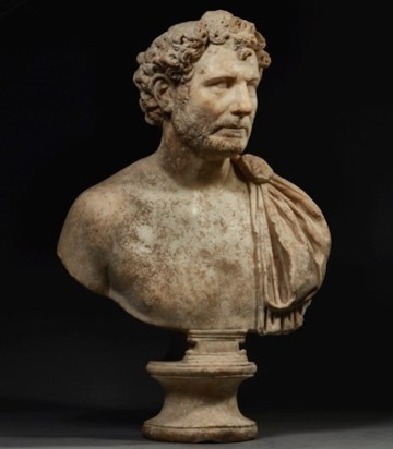 Portrait Bust of a Man (140–160 CE), Roman, marble, height: 30 in (courtesy the J. Paul Getty Museum)