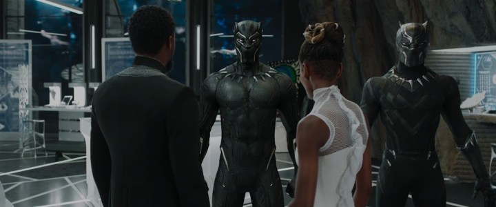 The Black Panther suit (all images from Marvel Cinematic Universe, courtesy Walt Disney Pictures)