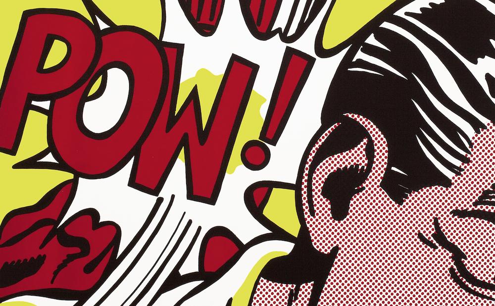 """Roy Lichtenstein, """"Sweet Dreams, Baby!"""" (1965), screenprint on white wove paper, sheet: 37 5/8 x 27 5/8 in; image: 35 5/8 x 25 9/16 in (© Estate of Roy Lichtenstein)"""