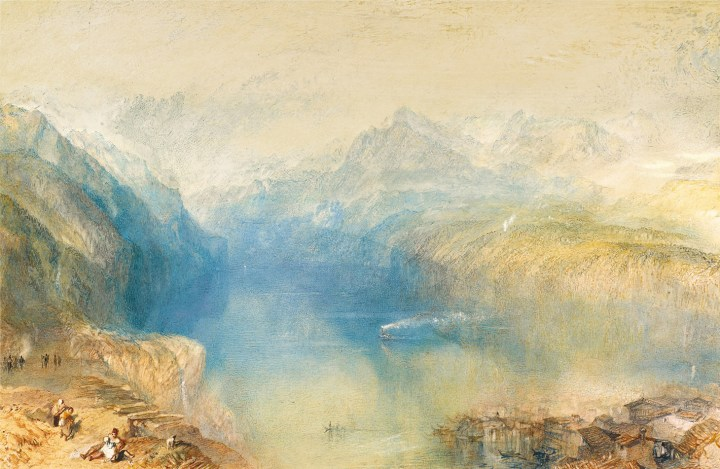 "J.M.W. Turner, ""The Lake of Lucerne from Brunnen,"" (image courtesy of Sotheby's)"