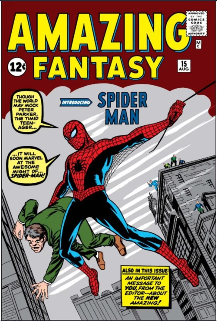 August 1962 Spider-Man cover by Steve Ditko