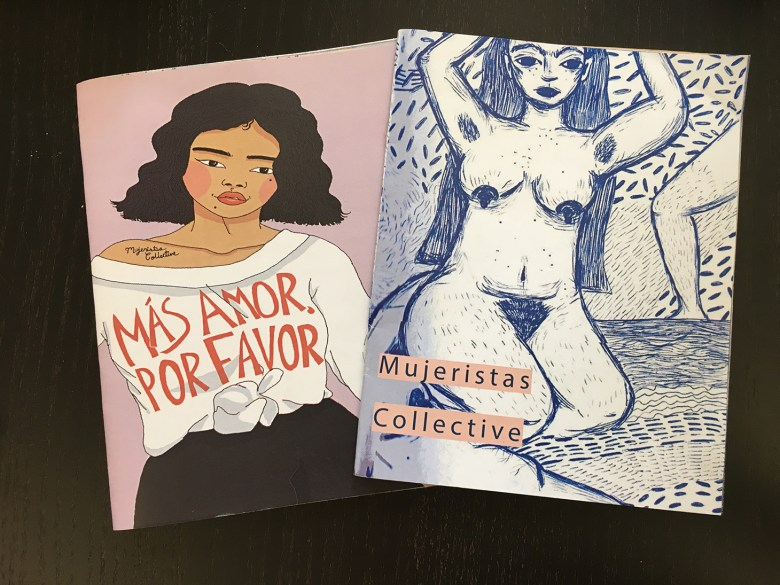 Two zines published by Mujeristas Collective