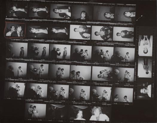 Andy Warhol U.S.A., 1928–1987. Contact Sheet, [Andy Warhol photo shoot with Liza Minnelli and Victor Hugo, John Lennon], 1978