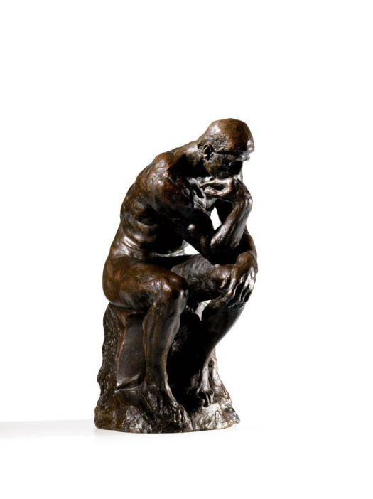 "Auguste Rodin, ""Penseur, Petit Modèle"" (c. 1920), height: 14 3/4 inches (image courtesy Sotheby's)"