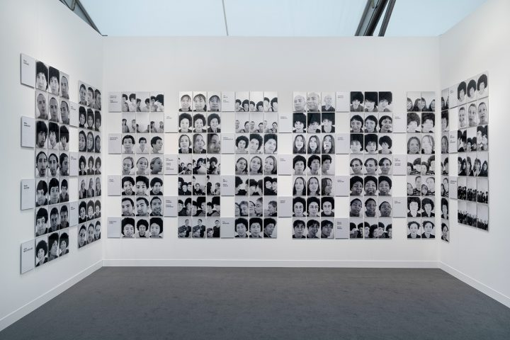 """Sonia Boyce, """"The Audition"""" (1997, printed 2018), black & white photographs mounted on aluminum, dimensions variable (image courtesy the Tate)"""