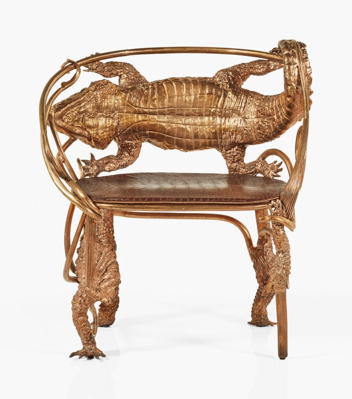 """Claude Lalanne, armchair, """"Crocodile,"""" model created in 2014, this achieved in 2016 (image courtesy Christie's)"""