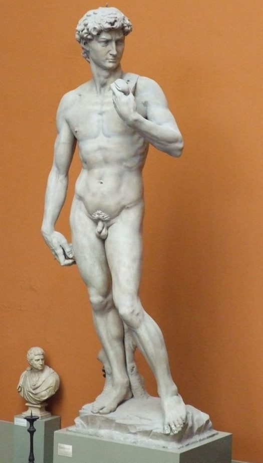 """David"" in the Cast Courts at the Victoria & Albert Museum (image via Wikimedia Commons)"
