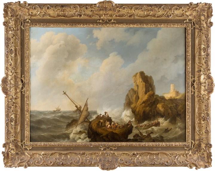 """Johannes Hermanus Koekkoek, """"Storm at Sea"""" (1841), (© Concordia University, via Concordia University's Flickrstream)"""