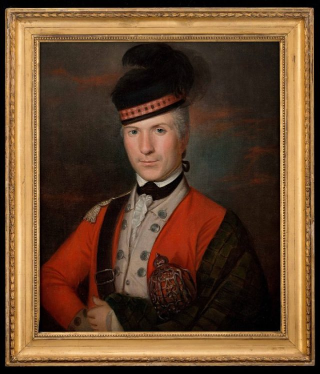"""Unidentified artist, """"Portrait of Major Patrick Campbell"""" (1775-1776), oil on canvas (image courtesy the Art Museums of Colonial Williamsburg)"""