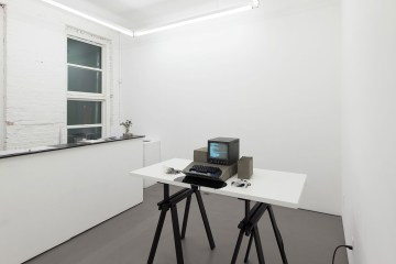 Installation view, American Artist: Black Gooey Universe (image courtesy HOUSING)