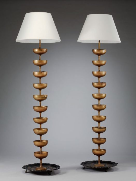 Salvador Dalí and Edward James, a Pair of Champagne Standard Lamps (image courtesy V&A)