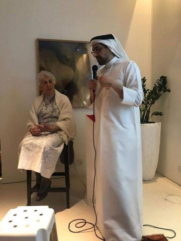 Samia Halaby and Sultan Sooud Al-Qassemi