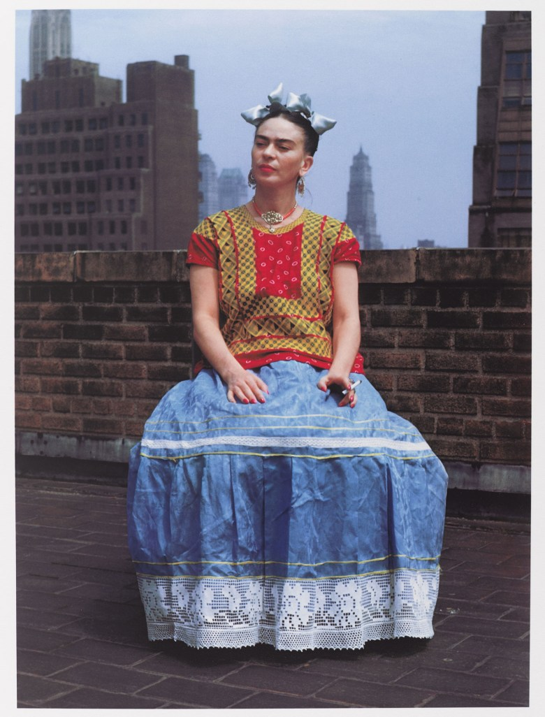 """Nickolas Muray, """"Frida in New York"""" (1946, printed 2006), carbon pigment print, image: 14 x 11 inches (Brooklyn Museum; Emily Winthrop Miles Fund, 2010.80, © Nickolas Muray Photo Archives, photo by the Brooklyn Museum)"""