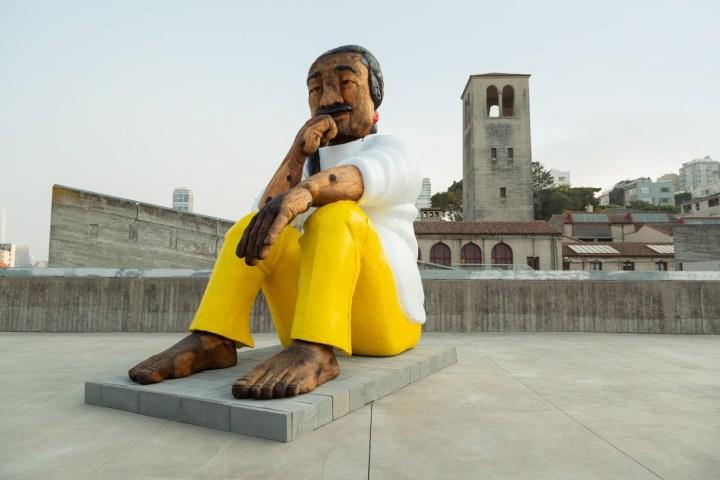 A Statue of Leonard Peltier, Leader of 1970s American Indian Movement, Is Overlooking Alcatraz