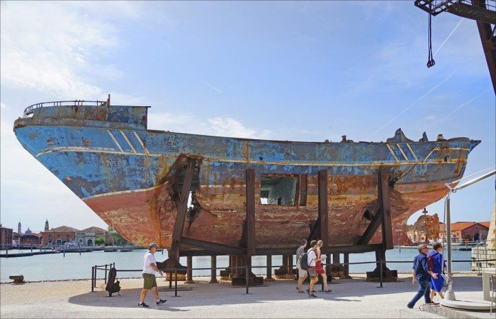 After Controversial Installation of Migrant Ship at Venice Biennale, Artist Fails to Return Boat to Italy