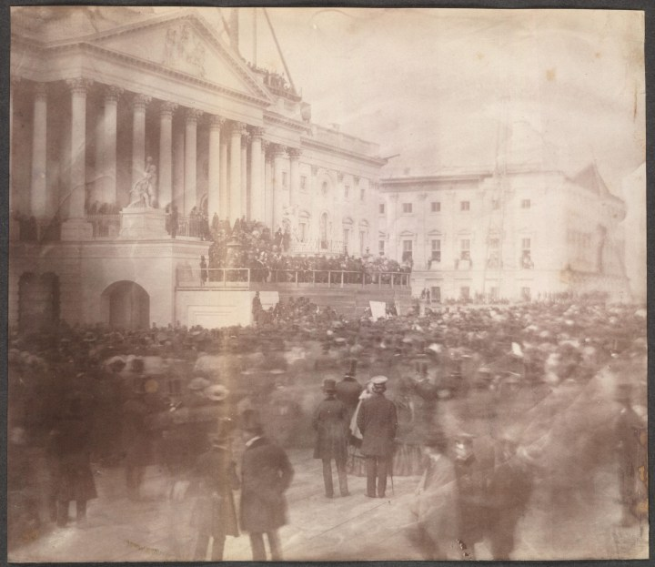 The Very First Photograph of a US Presidential Inauguration
