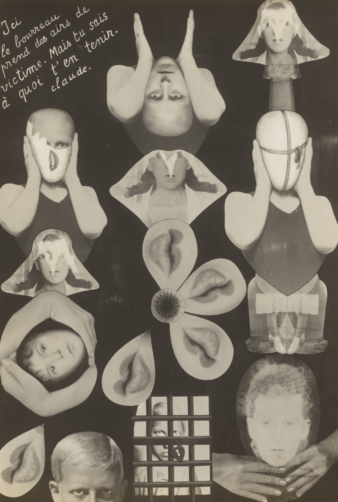 "Claude Cahun (Lucy Schwob), ""M.R.M (Sex)"" (c. 1929-30), Gelatin silver print, 6 × 4 inches (15.2 × 10.2 cm). The Museum of Modern Art, New York, Gift of Helen Kornblum in honor of Roxana Marcoci."