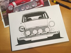 Hype Auto Art Mini Cooper Illustration
